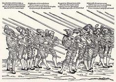 Der Heereszug der Landsknechte. Blatt 9, Spießknechte (um 1535)