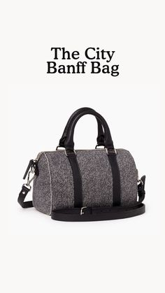 Our City Banff Bag is a mini update of our iconic Banff Bag that's perfect for your everyday adventures. Inspired by our Salt & Pepper sweats, it is handcrafted in Canada from our Salt & Pepper leather and trimmed with Cervino leather. This style is unlined and features a top zipper closure, handles and an adjustable, removable shoulder strap.