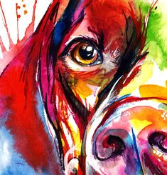Colorful German Short-haired Pointer or Weimaraner Art Print Pointer Puppies, Pointer Dog, Arte Pop, Weimaraner, Animal Paintings, Dog Art, Art Techniques, Pet Portraits, Watercolor Paintings