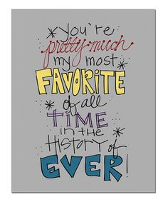 Take a look at this 'Favorite' Print by Doodle Art Prints by Doodli-Do's on #zulily today!