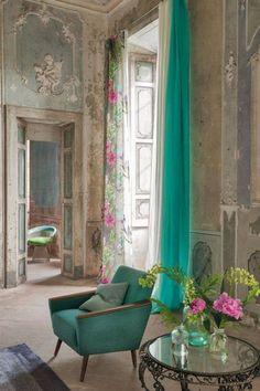 Rideau Saraille – Designers Guild - Marie Claire Maison - Amazing Homes Interior Designers Guild, Rideaux Design, Deco Design, Beautiful Space, Beautiful Paris, Interior Inspiration, Color Inspiration, Interior Ideas, Wedding Inspiration