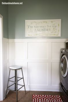 laundry room spruce up/organization