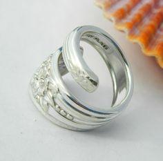 Spoon Ring Silverware Jewelry Silver Belle by CaliforniaSpoonRings, $19.50