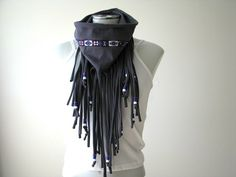 Native Inspired Fringe Scarf with beads tshirt by FeathersandFancy, $39.00