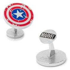 Marvel Captain America Distressed Shield Cuff Links, Multicolor