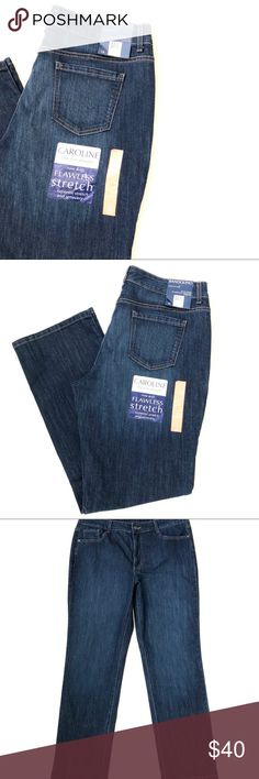 """New!! Bandolino Caroline Jeans -Slim Straight Fit 🏷New with tags!! Perfect for gifting 🎁  Bandolino -Caroline jeans Slim straight fit Sits slightly below the natural waist Straight leg Size 14 - 31"""" inseam Greenwich wash 72%cotton/26%polyester/2%spandex Bandolino Jeans Straight Leg"""