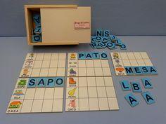 Lectoescritura - Juguetes didácticos, material didáctico, jardin de infantes, nivel inicial, Juegos, Juguetes en madera