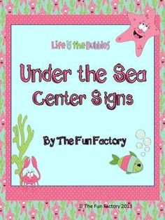 Ocean Themed Center Signs and Center Management Chart Cards