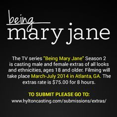 """Hylton Casting, Apply now to be an extra on """"Being Mary Jane"""" Season 2! Atlanta, GA 
