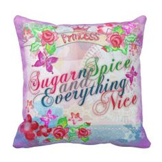 Cute girls Sugar n Spice pillow
