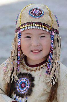 """Saved fromscontent-b-fra.xx.fbcdn.net Sakha (""""Yakut"""") child in traditional dress, Sakha Republic (""""Yakutia""""), Northeast Siberia"""