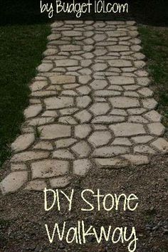 DIY Cobblestone Path or walkway-this DIY project takes only an afternoon