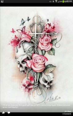 tattoo vorlage mit schmetterling und hibiskus blumen meine tattoo vorlagen pinterest. Black Bedroom Furniture Sets. Home Design Ideas