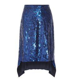Wedding Guest Outfits: Altuzarra Oleander Asymmetric Sequined Silk-Chiffon Skirt