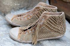 macrame shoes  project by Ewelina Król