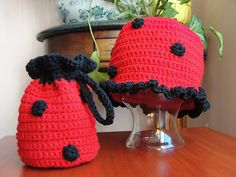 Ladybug Purse and Cloche/Hat