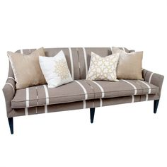 Bench Seat Sofa With Throw Pillows