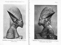 -  Picture of a bust of Akhenaten -Amenhotep lV ./tcc/