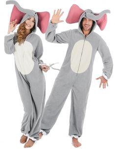 Elefant Jumpsuit Elefanten Kostüm Elefantenkostüm Tierkostüm Elefantkostüm Zoo