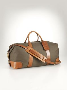 Canvas  Leather Weekend Bag - Travel Bags   Bags  Business Accessories - RalphLauren.com