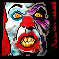 Pennywise It perler beads by the_living_dead_111