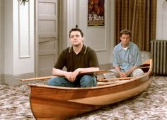 Joey and Chandler after losing all their furniture lol.