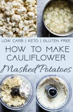 Ever wondered how to make cauliflower mashed potatoes? I'm showing you an easy step-by-step guide to making a healthy, gluten free and low carb side dish! Garlic Mashed Cauliflower, Coliflower Recipes, How To Make Cauliflower, Cauliflower Rice, Best Gluten Free Recipes, Gluten Free Recipes For Dinner, Dinner Recipes, Easy Potato Recipes, Kitchen