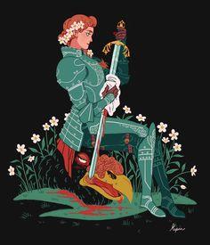 Lady Knight Illustration by Sara Kipin