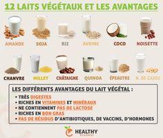Petite infographie qui regroupe les 12 principaux laits végétaux, et les avantages de les consommer à la place du lait de vache. Evidemment il en existe d'autres. Essayez de les prendre en BIO si possible, pour éviter les traces de pesticides. ➡️ Healthy Student - Pour me suivre : Valentin Loiseau, Facebook