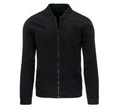 Pánská jarní bunda - Bratt, černá | TAXIDO fashion Denim Button Up, Button Up Shirts, Athletic, Mens Fashion, Zip, Jackets, Style, Color Combinations, Moda Masculina
