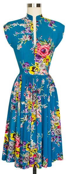 The Trashy Diva Maria Dress is now available in Turquoise Floral!