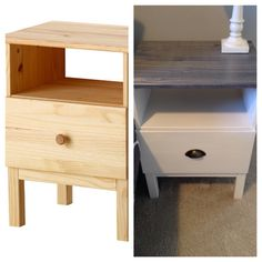 Ikea Tarva nightstand hack