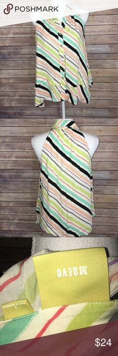 Anthropologie Maeve rainbow striped top Gently used top flowy and light with different colors.  Perfect the summer! Anthropologie Tops Blouses