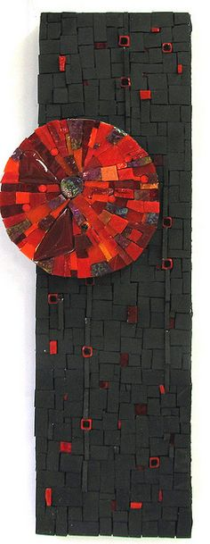 'Fire Moon' Art Mosaic by Marion Shapiro via flickr from By Marion Shapiro - Mosaics<3<3