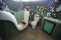 Earth Ships New Mexico | ... Wikimedia Commons Bathroom of the Phoenix Earthship in New Mexico