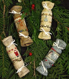 "I love these Christmas Crackers.  They have to go on my listing of stitching ""To Dos"""