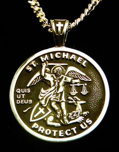 Michael Medal Sterling Silver Archangel patron Saint of St Michael Medal, Different Alphabets, St Christopher Medal, St Michael Pendant, Tarnish Remover, Patron Saints, Quartz Ring, Gold Pendant Necklace, Black Felt