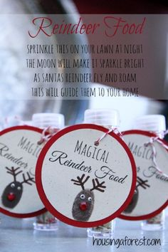 Reindeer Food Gift Idea My kids love making Magical Reindeer Food. It is so easy to put together, and makes the perfect gift for families with little kids.