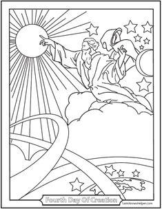 Dibujos Cristianos Para Colorear: La Creación de Dios para