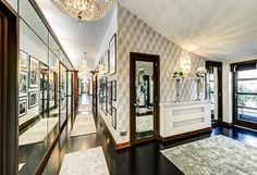Celebrity Homes: Hugh Grant Former UK Penthouse - No, it's not in Notting Hill. However, this is one of the coolest penthouses in the UK, where Hugh Grant liv Flat Interior, Interior Design, Interior Architecture, Penthouse For Sale, Luxury Penthouse, 3 Bedroom Flat, Hugh Grant, Mansions Homes, Luxury Mansions