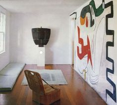 le Corbsuier's mural - home of ruth and constantino nivola blueberry modern