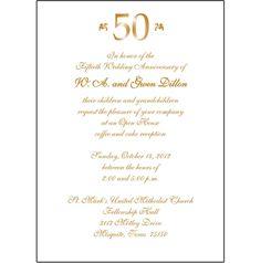 Th Wedding Anniversary Invitations   Pinteres