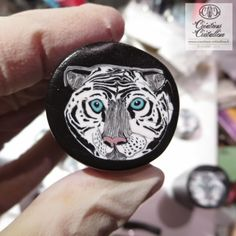 Polymer clay white tiger cane. Fimo Cristalline, tuto et bijoux en polymère: Canne tigre ... enfin, il parait !