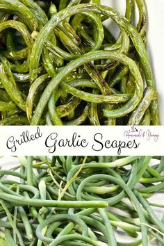This Grilled Garlic Scapes Recipe will be a hit at your next BBQ party. Recipe For Garlic Scapes, Scape Recipe, Vegetable Prep, Vegetable Side Dishes, Vegetable Recipes, Healthy Grilling, Grilling Recipes, Vegetarian Grilling, Barbecue Recipes