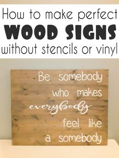 These beautiful wood signs are so popular right now, but they can be pretty expensive to buy. CrazyDiyMom has a great tutorial on how to make these beautiful DIY wooden signs with just your computer and paint! Wood Pallet Signs, Diy Wood Signs, Rustic Wood Signs, Make Your Own Sign, How To Make Signs, Making Signs On Wood, Painted Wooden Signs, Wooden Diy, Painted Wood Crafts