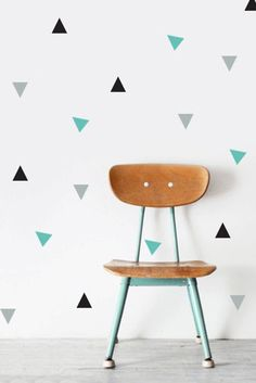 Items similar to Triangle vinyl wall pattern.Set of 64 triangle wall stickers. Vinyl decal stickers on Etsy Wall Stickers Triangles, Baby Wall Stickers, Baby Room Decor, Diy Wall Decor, Diy Wall Painting, Triangle Wall, Removable Wall, Wall Patterns, Wall Colors