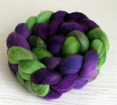 SALE Merino Wool Roving  Hand Painted by FashionTouchSupplies, $16.99
