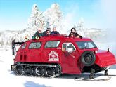Snow coach in the park