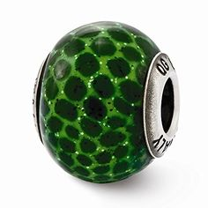 Sterling Silver Reflections Italian Green Glitter Bead *** You can find more details by visiting the image link.