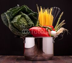Stock photo available for sale at Fotolia: Pot With Vegetables And Pasta